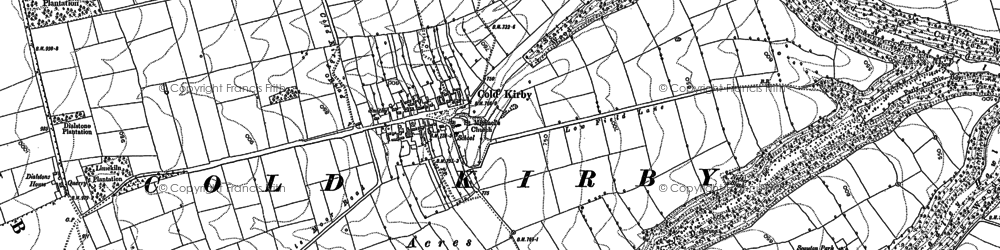 Old map of Wethercote in 1891