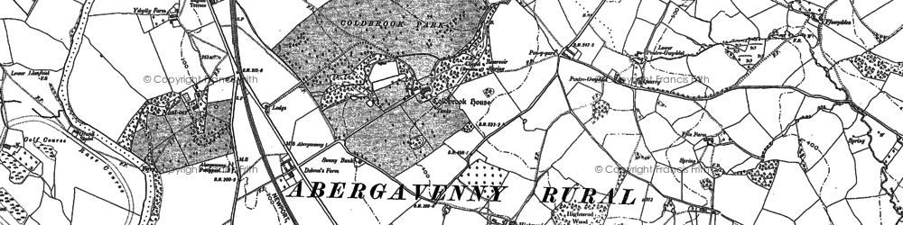 Old map of Ysgyrd Fach in 1899