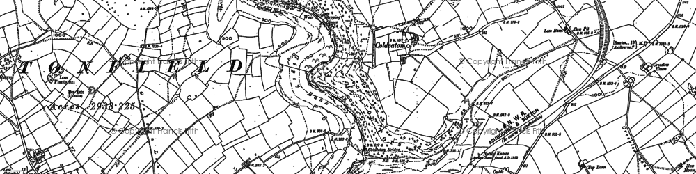 Old map of Tissington Trail in 1879