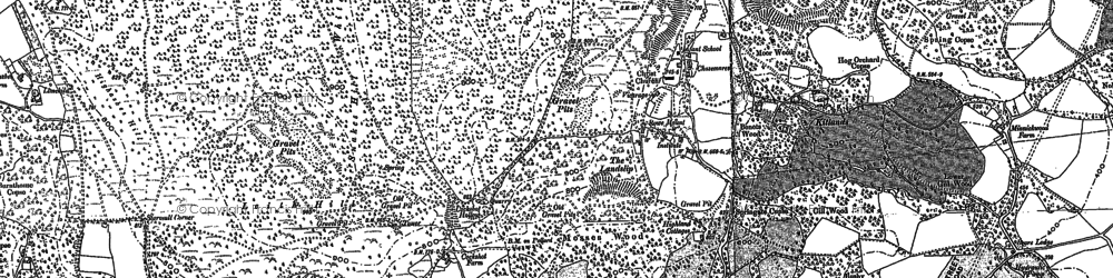Old map of Coldharbour in 1895