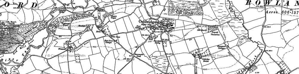 Old map of Aller Br in 1886