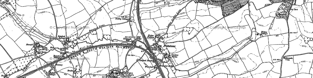 Old map of West Wotton in 1886