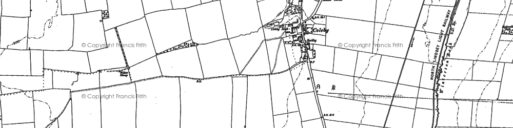 Old map of Coleby in 1906