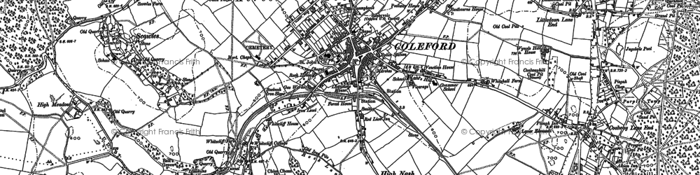Old map of Whitecliff in 1878