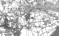 Old Map of Colehill, 1887 - 1900