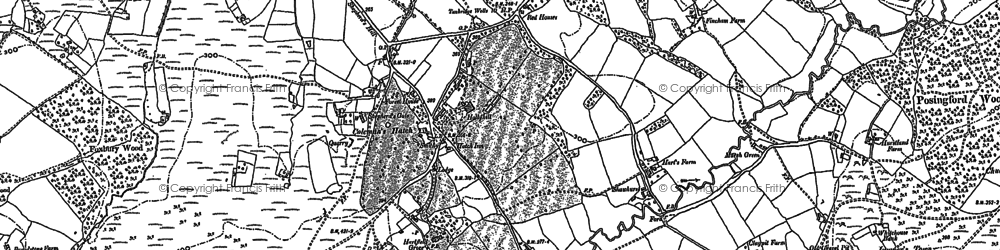 Old map of Coleman's Hatch in 1897