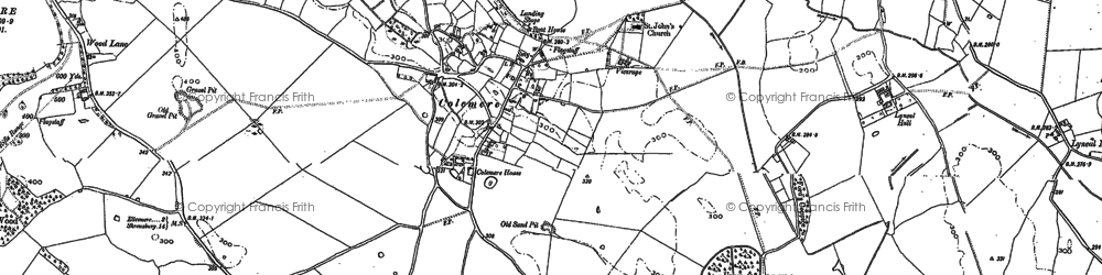 Old map of Colemere in 1874