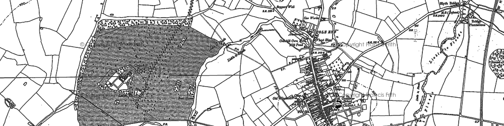 Old map of Coleshill in 1886