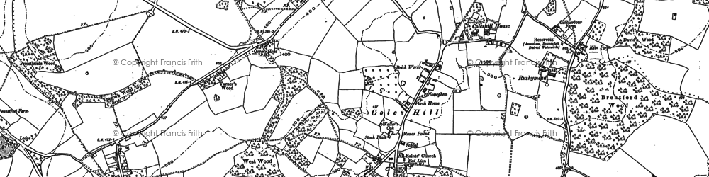 Old map of Coleshill in 1897