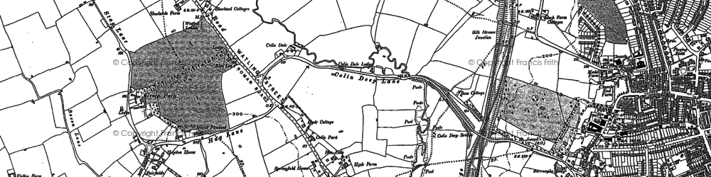 Old map of Colindale in 1895