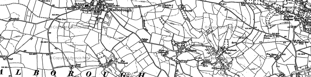 Old map of Collaton in 1905