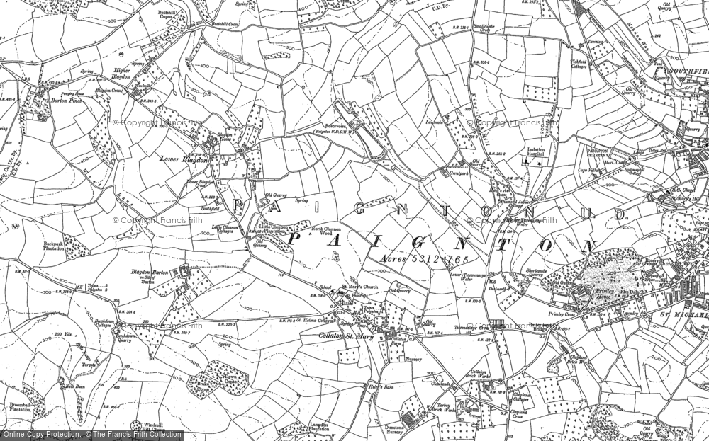 Old Map of Historic Map covering Ayreville in 1886