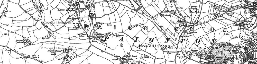 Old map of Windmill Hill Clump in 1886
