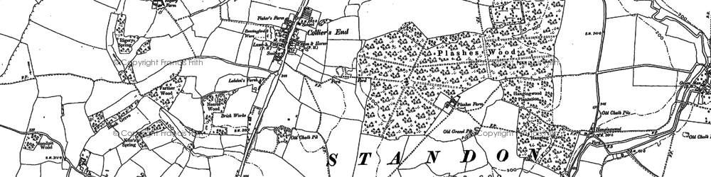 Old map of Barwick in 1895