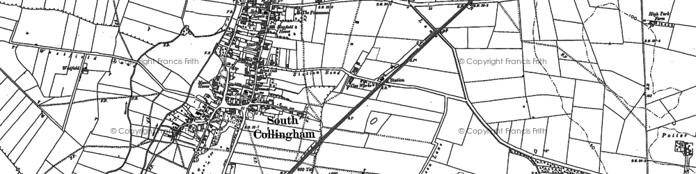 Old map of Wheatley Hill in 1884