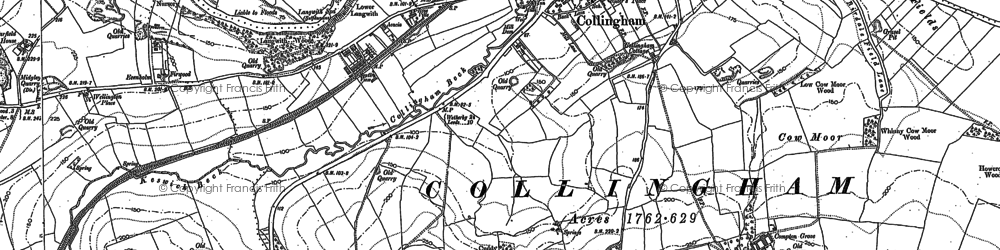 Old map of Collingham in 1888