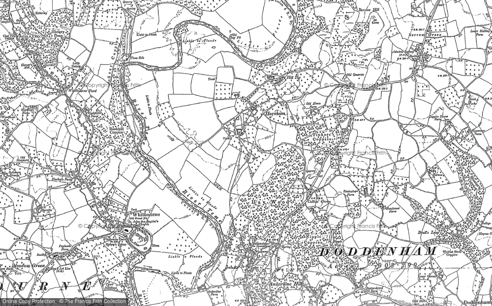 Old Map of Collins Green, 1885 - 1902 in 1885