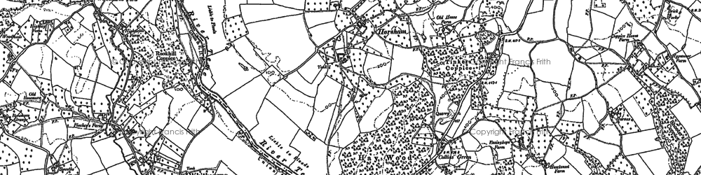 Old map of Whitbourne Ford in 1885