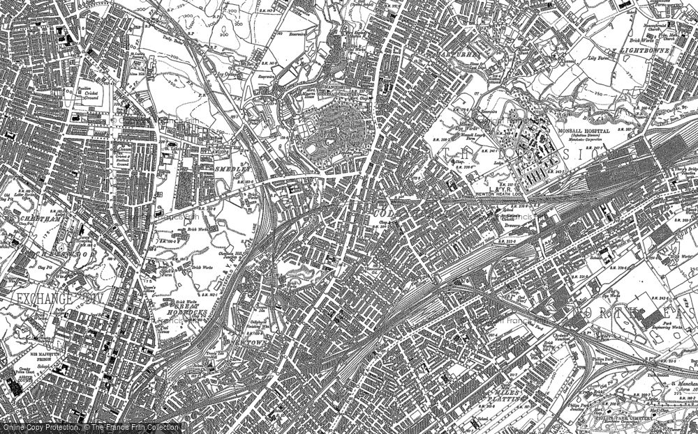 Old Map of Historic Map covering Ancoats in 1889