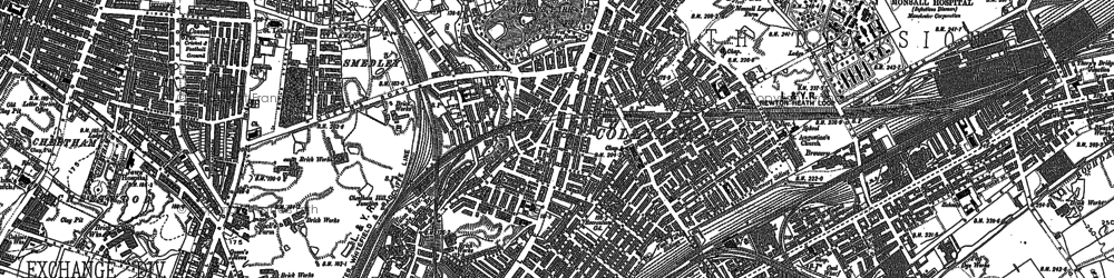 Old map of Ancoats in 1889