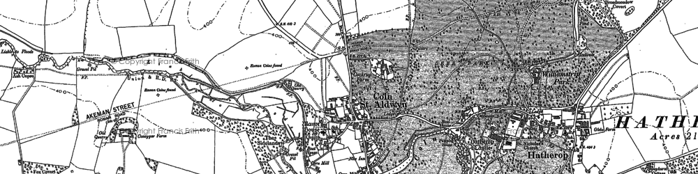 Old map of Williamstrip Park in 1881