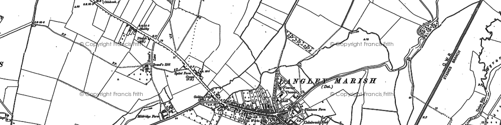 Old map of Brands Hill in 1897