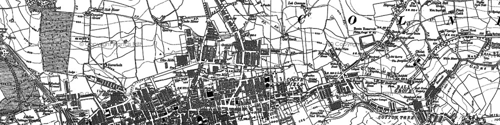 Old map of Law Hill in 1891