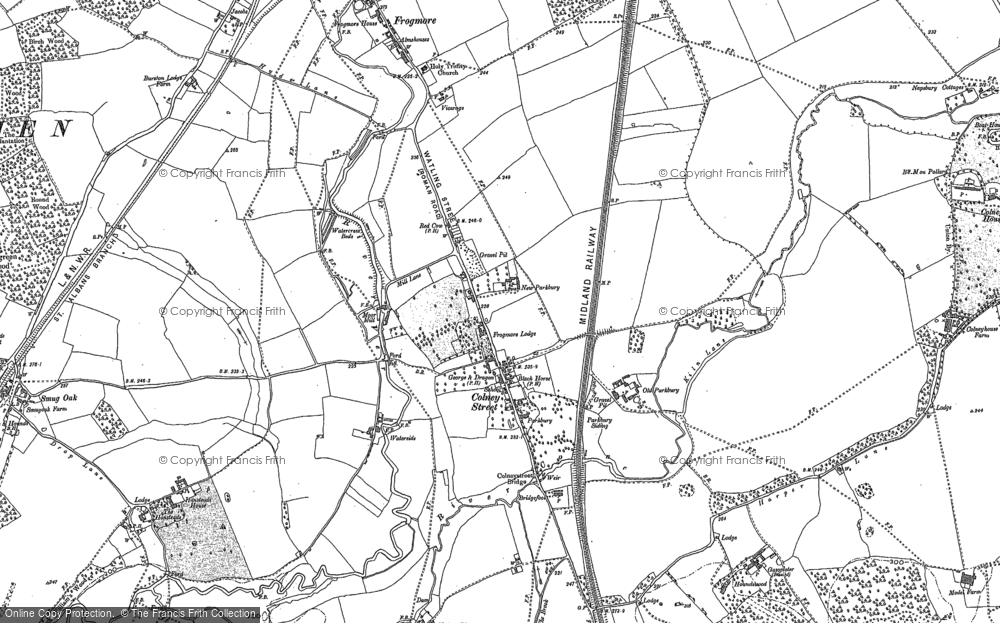 Old Map of Colney Street, 1896 in 1896