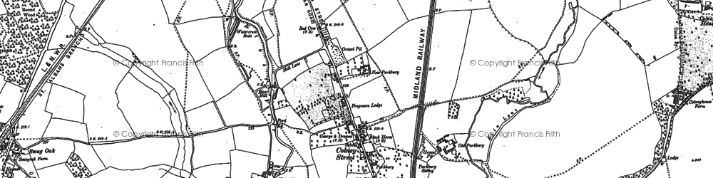 Old map of Colney Street in 1896