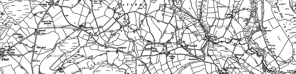 Old map of Axe Edge End in 1897