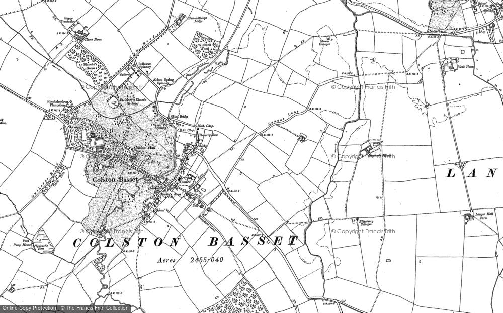 Old Map of Colston Bassett, 1899 in 1899