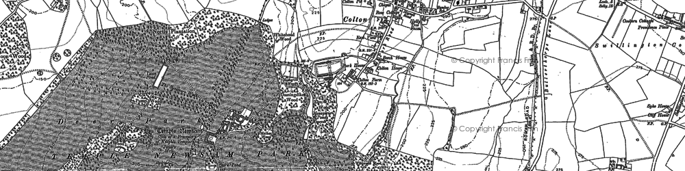 Old map of Austhorpe in 1890