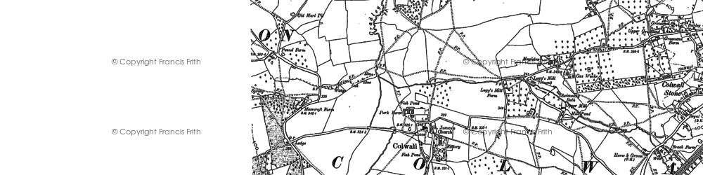 Old map of Colwall in 1903