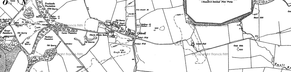Old map of Liddell Hall in 1895