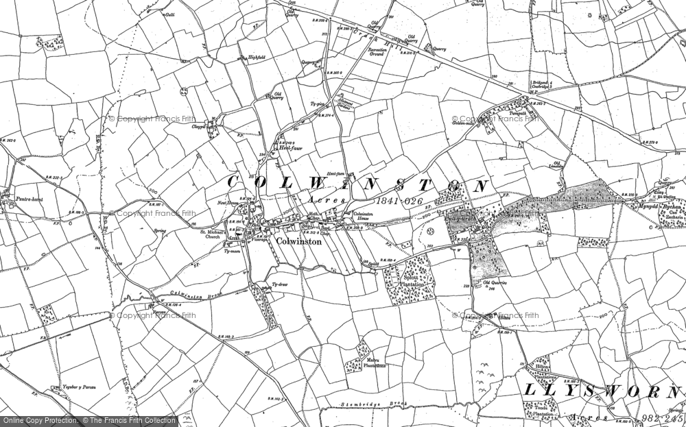 Old Map of Colwinston, 1897 - 1914 in 1897