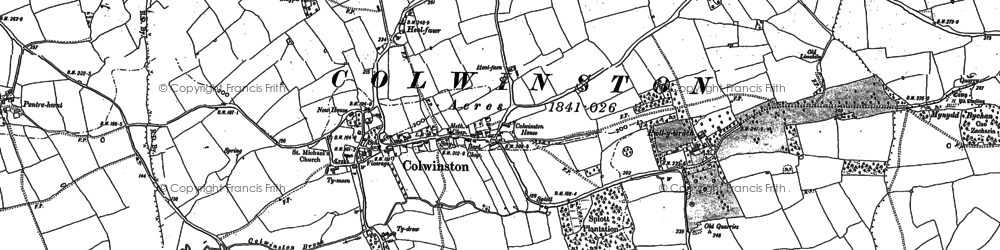 Old map of Colwinston in 1897