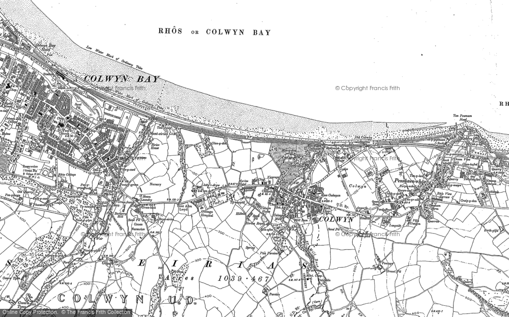 Old Map of Colwyn Bay, 1911 in 1911
