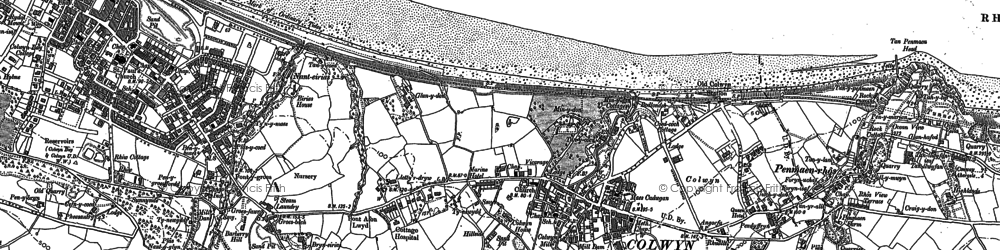Old map of Colwyn Bay in 1911