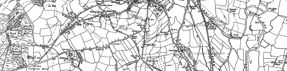 Old map of Willhayne in 1887