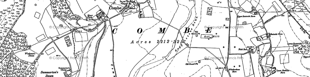 Old map of West Woodhay Down in 1909