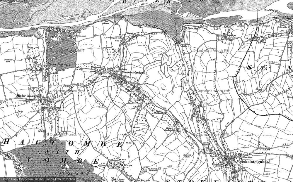 Old Map of Historic Map covering Ringmore in 1904