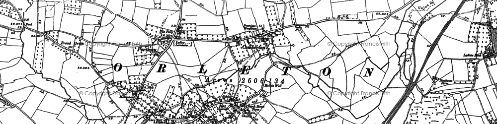 Old map of Wyson Common in 1884