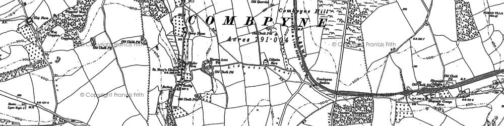 Old map of Combpyne in 1903