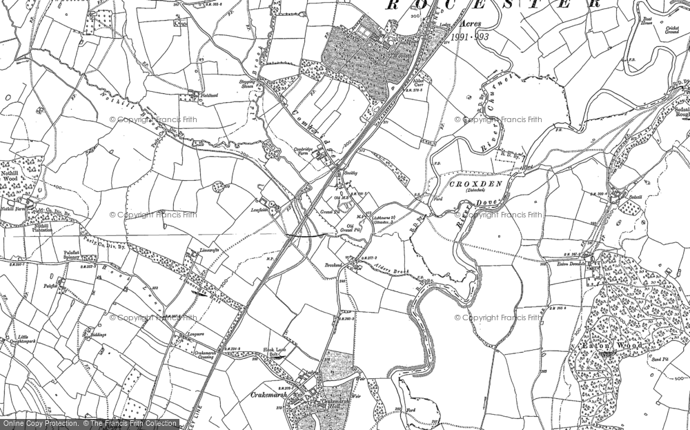 Old Map of Historic Map covering Alders in 1899