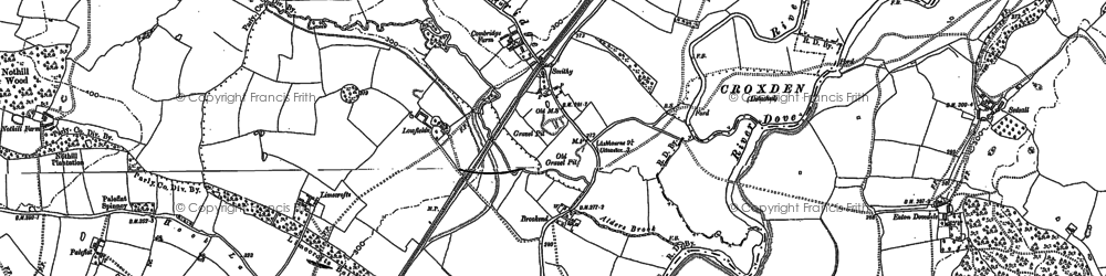 Old map of Limecrofts in 1899