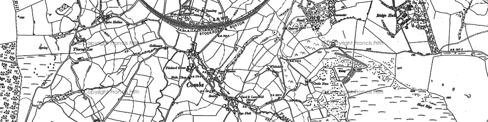 Old map of Combs in 1879