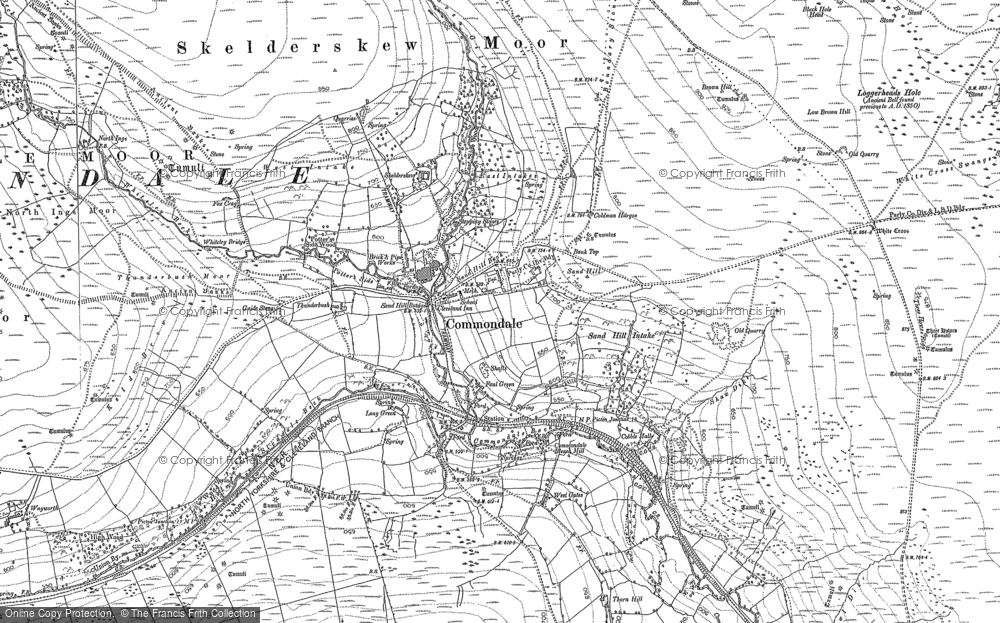 Old Map of Commondale, 1892 - 1893 in 1892