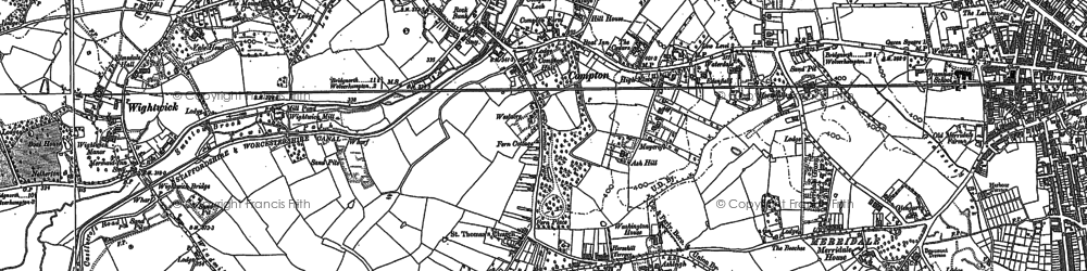 Old map of Wightwick Manor in 1885