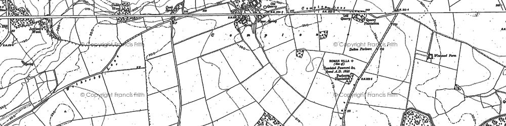 Old map of West Woods in 1891