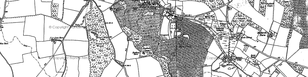 Old map of Compton in 1895
